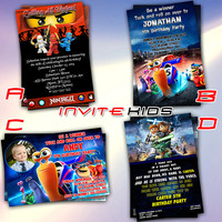 Turbo Snail Ninjago and Starwars Lego - Invitation Card - Birthday Party Kids - InviteKids