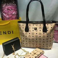 Year-End Promotion 3 Pcs Of Bags Combination (MCM Bag ,YSL Little Bag ,MCM Wallet)