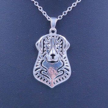 2018 Bernese Mountain Dog Animal Pendant Necklace Gold Silver Plated Jewelry For Women Male Female Girls Ladies Punk Cute N092