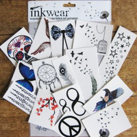 Inkwear Most Popular Pack of 15 tattoos by Inkweartattoos on Etsy