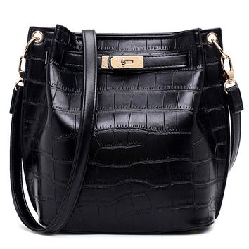 Stylish Fashion Simple Design One Shoulder Bags Lock [4982895748]