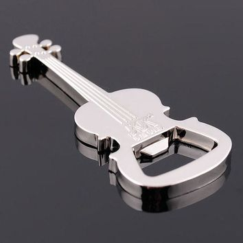 VONC1Y Hot Selling Creative Gift Zinc Alloy beer guitar bottle opener bottle opener Free Shipping B22