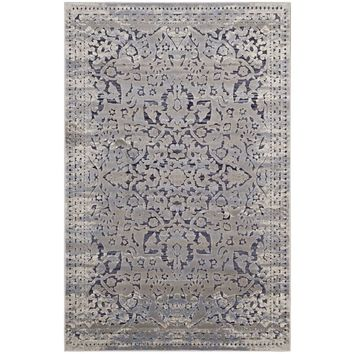 Margarida Distressed Vintage Turkish 5x8 Area Rug