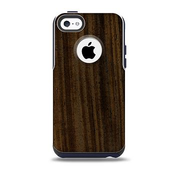 The Black Grained Walnut Wood Skin for the iPhone 5c OtterBox Commuter Case
