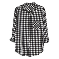 Buy Mango Gingham Check Shirt, Black | John Lewis