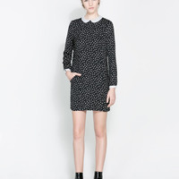 POLKA DOT DRESS WITH PETER PAN COLLAR