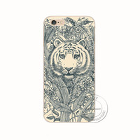 Loving Tiger Shell Phone Case For iPhone 7 7Plus 6 6s Plus 5 5s SE