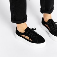 ASOS DIP DYE Cut Out Flatform Trainers