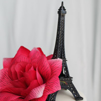 Black Paris Eiffel Tower Cake Topper