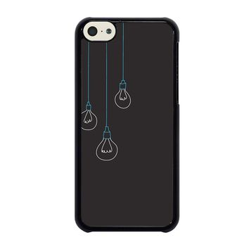 BLACK LIGHT BULBS MINIMALISTIC iPhone 5C Case