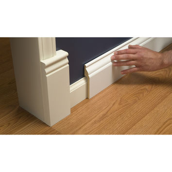 Shop RapidFit 5.25-in x 8-ft Interior Pine Mdf Baseboard at Lowes.com