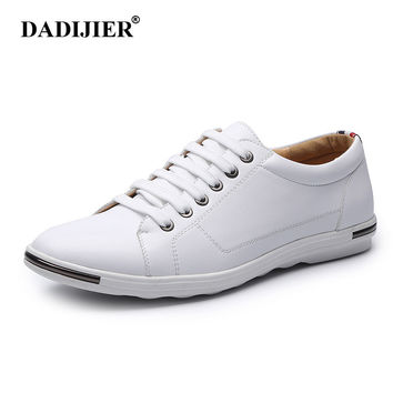 DADIJIER Fashion Men Shoes Summer Autumn Split Leather Lightweight brand Breathable Casual shoes Flats Zapatos Mujer ST174
