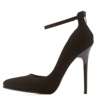 Black Qupid Ankle Strap D'Orsay Heels by Qupid at Charlotte Russe