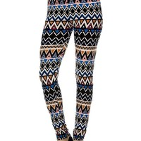 Tribal Print Legging. Tan