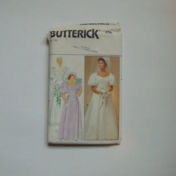 Butterick 4766 Sewing Pattern Bridal Wedding Gown Dress  Size 18