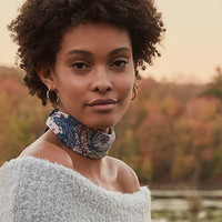 Paisley Silky Mini Square Scarf | Urban Outfitters