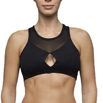 The Free Yoga Keyhole Sports Bra with Mesh (Exclusive)