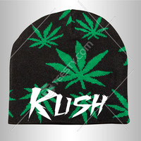 Kush Beanie Beanies Marijuana Weed Smoke Party Girl Boy High High All Day Legalize It High All The Time Live Fast Die Young 420 Custom