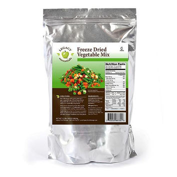 Legacy Premium Vegetable Mix Freeze Dried Bell Peppers Tomatoes Peas Corn Carrots