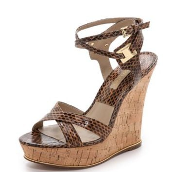 Michael Kors Collection Shana Snakeskin Sandals