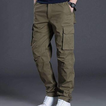 Brand Tactical Men Pants Trousers Men'S Cargo Pants Casual Mens Pant Multi Pocket Military Men Outdoors Cotton Trousers