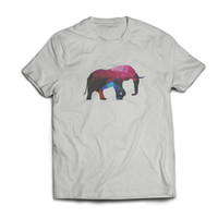 Lucky Polygon Elephant Geometric Graphic Tshirt S M L XL XXL