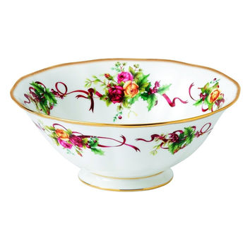 Royal Albert Old Country Roses Christmas Tree Serving Bowl