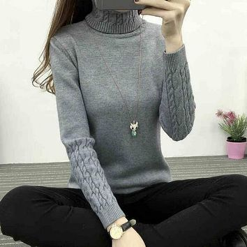 STYLEDOME Women Turtleneck Winter Sweater  Knitted Pullovers