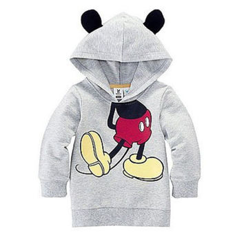 2016 Baby Girls Boys Kids Cartoon Mickey Minnie Tops Sweatshirt Hoodies Coat Clothes
