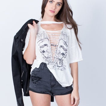 Shredded Graphic Tee