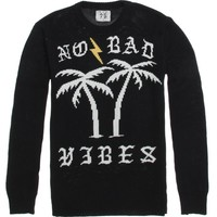 Bad Acid No Bad Vibes Sweater - Mens Sweater - Black
