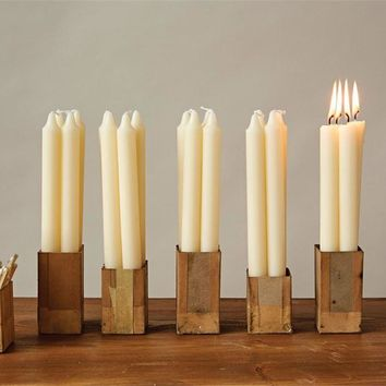 """10""""H Unscented Taper Candles In Box, Set of 12"""