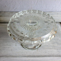 McKee  Plymouth Thumbprint Cake Stand : vintage