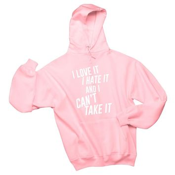 "Louis Tomlinson / Bebe Rexha ""Back to You - I Love It I Hate It And I Can't Take It"" Unisex Adult Hoodie Sweatshirt"