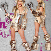 Fur Costume: THE VIKING @ OdGirl.com - Sexy Lingerie, Sexy Clothing, Valentine?s High Heel Shoes, Dancewear, Clubwear, Gothic Apparel, Minidress, Bridal Lingeries, Short Skirt, Bikini, Swimwear, PVC Leather and Gowns