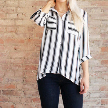 STRIPE ICON BLOUSE