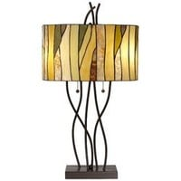 Pacific Coast Lighting Twigs Stained Glass Table Lamp