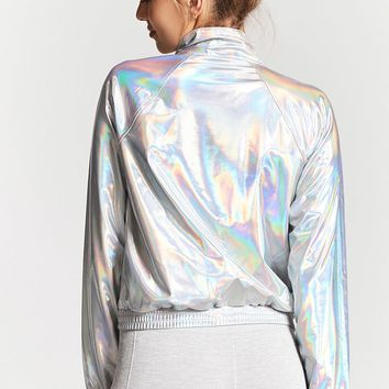 Active Metallic Graphic Anorak