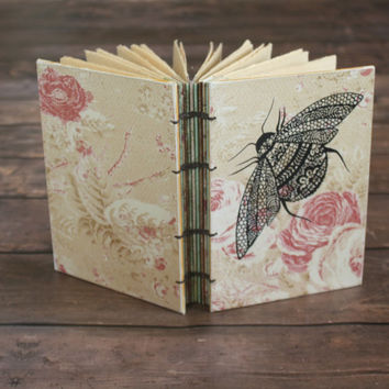 Bee Coptic Bound Journal- Garden Graduation Journal - Unique Gift - Handmade Book