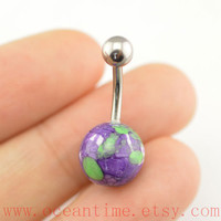belly ring,purple Belly Button Rings, purple stone belly button jewelry,Navel Jewelry,friendship bellyring