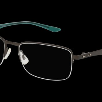 Puma - PU0094O Ruthenium Green Eyeglasses / Demo Lenses