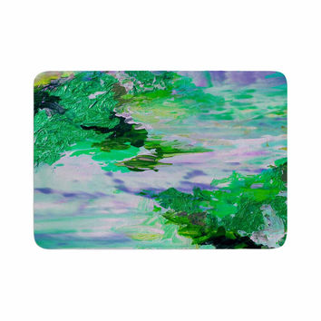 "Ebi Emporium ""On Cloud Nine - 6"" Green Blue Memory Foam Bath Mat"