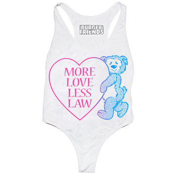 More Love Less Law Leotard Bodysuit