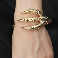 Unique Punk Style Eagle Claw Cuff Bracelet from Fashion Accessories Store