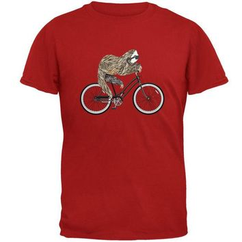 DCCKU3R Bicycle Sloth Mens T Shirt