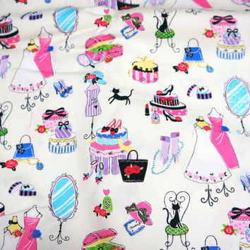Japanese fabric Girly theme Half yard A8 last piece