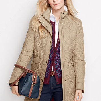 Women's Quilted PrimaLoft Coat from Lands' End