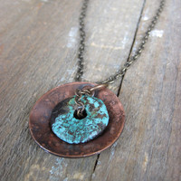 Turquoise Copper Necklace by CopperTreeArt on Etsy
