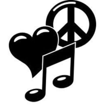 Peace Love Music  Vinyl Car/Laptop/Window/Wall Decal