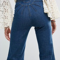 Free People Ray Of Sunshine Flared Jeans at asos.com